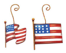 Flag Ornaments – Asst. 2 – Round Top Americana