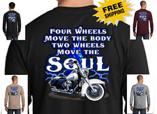 Two Wheels Classic Motorcycle Custom Chopper New Mens Long Sleeve Biker T-Shirt