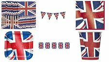 Royal Union Jack British Commonwealth Olympic Queen Party Tableware Decor Street