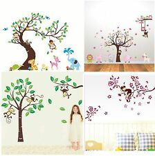 Kids Nursery Removable Wall Art Stickers decals tree decor vinyl baby animals