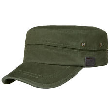 Men Cotton Flat Top Baseball Twill Army Millitary CorpsRunning Sun Hat Cap Visor