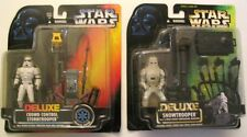 NOS 1996 STAR WARS POTF DELUXE CHOOSE: Snowtrooper OR Crowd Control Stormtrooper