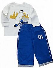 Crazy 8 toddler boys outfit  thermal graphic tee & lined active pants 2 & 3 NWT