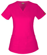 Dickies Scrubs Short Sleeve Top 85700 HPK Hot Pink Multi Free Shipping