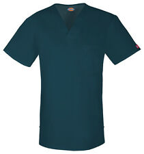 Dickies Scrubs Short Sleeve Top 81800 CAWZ Caribbean Blue Free Shipping