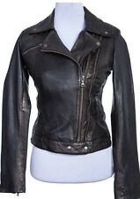 David Moore Ladies Leather Jacket Lamb nappa Studs copper brown NEW 7498