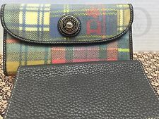 *Dooney & Bourke*Plaid Madras Ladybug*Checkbook Wallet*16061C