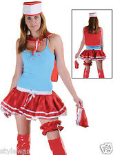 Ladies 4Pcs Sailor Kit Hat Scarf  Pouch Girls Fancy Dress Sexy Outfit Hen Party