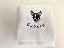 FREE Pet's Name - U Choose Your Breed - Hand Towel - Dog Lover Gift - Handmade