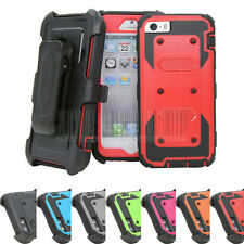 Hybrid Heavy Duty Cover Hard Stand Clip Shockproof Case For Apple iPhone 5/5S SE
