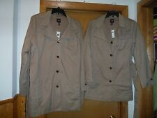 Spring/Fall Lined Jacket GAP Beige size 2XL,LG 100% cotton NWT