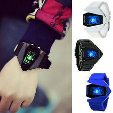 Fashion Womens Mens Digital LED Analog Quartz Alarm Date Sports Wrist Watch zws