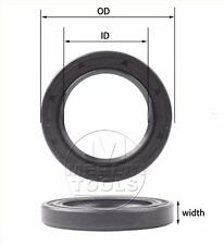 Select Size ID 35 - 37mm TC Double Lip Rubber Rotary Shaft Oil Seal with Spring