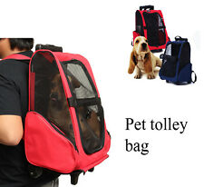 Pet Carrier Dog Cat Rolling Backpack Travel Backpack Trolley For Dogs And Cats