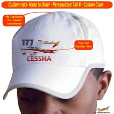 Cessna 177 Cardinal Airplane Pilot Hat - Personalized with N#