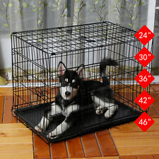 Folding Pet Dog Cage Crate Metal Training Indoor Pet Carrier For Travel