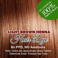 Light Brown Henna Hair Color – Goodness of Organic Henna 100% Natural Hair Color