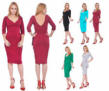 MARYCRAFTS WOMENS VINTAGE BODYCON WIGGLE 1950S 50S FITTED COCKTAIL PARTY DRESSES