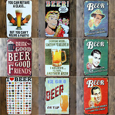 Vintage Beer Wine Metal Picture Poster Tin Sign Wall Plaque Pub Bar Home Decor