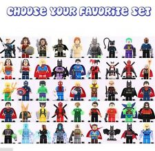2017 Superheroes DC Comics Figures Superman Batman wonder woman Marvel Fit Lego