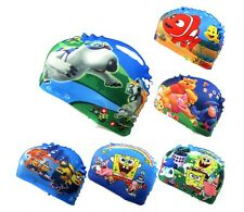 Cartoon Kids Childrens New Fabric Swimming Hat Swim Cap 2-10 years 20 designs