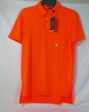 POLO RALPH LAUREN MENS PERFORMANCE POLO SHIRT SOLID ORANGE SIZE S OR M -NWT
