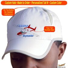 Cessna Skymaster Airplane Pilot Hat - Personalized with N#