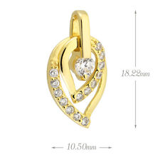 Sterling silver Pave Cubic Zirconia (CZ) Heart Necklace Pendant