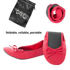 New Foldable / Rollable Red Ballet flats with bag. S,M,L,XL 5,6,7,8,9,10 US/AU