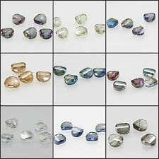 5pcs 15mm Round Faceted Cut Glass Crystal Loose Spacer Beads 11Colors