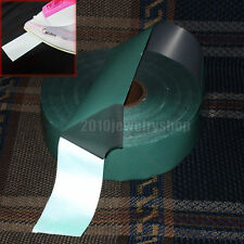 """Green Color White Reflective Tape Fabric Iron On Material Heat Transfer Width 2"""""""