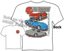 Corvette Shirts C3 Corvette Apparel Chevy Shirt Chevrolet Clothing 1968-1982 Tee