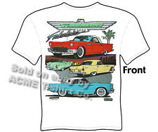 Ford Tee Shirts 1955 1956 1957 Thunderbird Classic Car T Shirt Sz M L XL 2XL 3XL
