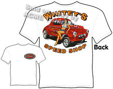 41 Willys Drag Racing T Shirt Whiteys Speed Shop Tee 1941 Gasser Apparel Hot Rod