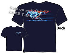 Mustang Apparel Ford Racing T Shirt Logo Badge Ponycar Emblem Size M