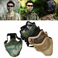 New Half Face Metal Mesh Protective Tactical Airsoft Military Mask Protector