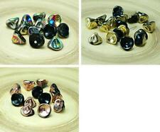 Black Half Czech Glass Large Bell Flower Beads Lily Of The Valley Flower Caps 8m