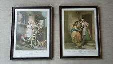 2 Framed Engraving Cries Of London Prints Pate 5 New Mackrel Plate 10 Old Chairs
