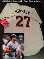 Giancarlo Stanton Miami Marlins Authentic Grey / Road Alternate Cool Base Jersey