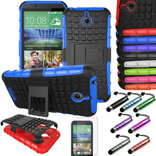 HTC Desire 510 Armor Rugged Hybrid Shockproof Stand Case Cover + Film LCD PEN