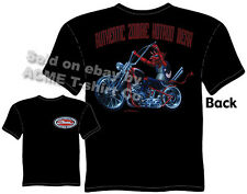 Devil Chopper Tshirt Zombie Hot Rod Wear Old School Bobber Tee Sz XL
