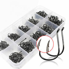 Strong Carbon Steel Fishhook Octopus Circle Jig Fishing Hooks 500PCS