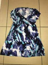 NEXT stunning jersey watercolour wrap plunge dress size 18