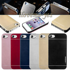 Chic Ultra Thin Brushed Metal Aluminum Hard Cover Skin Case For iPhone 4 4S 5 5S