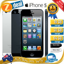 APPLE iPHONE 5 16GB 32GB 64GB FACTORY UNLOCKED + 12MTH AUS WTY (NEW SEALED BOX)