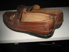 Pre-Owned Dockers Mens Brown  Leather Tassle Loafers-11 .5 M