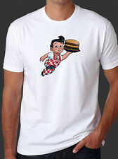 Bobs Big Boy Burger Restaurant New Retro Vintage design White T-Shirt Tee