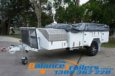 SOFT TOP OFF ROAD CAMPER TRAILER WITH INDEPENDENT SUSPENSION CAMPING