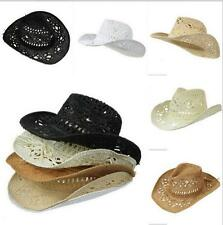 POP Vintage Carved Unisex Women Summer Holiday Beach Sunhat 5 Colours Straw Hat