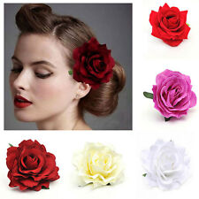 1pcs Fashion Wedding Bridal Rose Flower Hair Clip Brooch Pin Barrette Party Gift